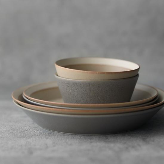 木村硝子店×イイホシユミコ|dishes 230 plate / matte moss gray