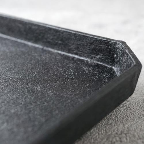 蝶野秀紀|和紙貼すみきり茶盆L 黒
