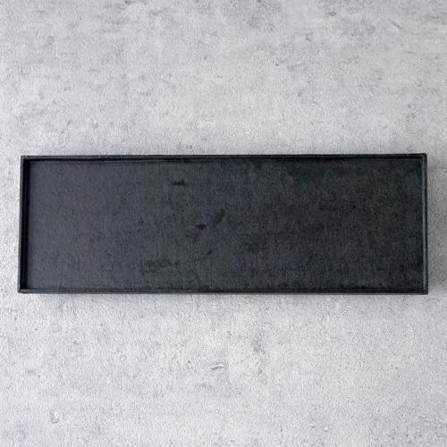 蝶野秀紀|和紙貼一文字盆S黒