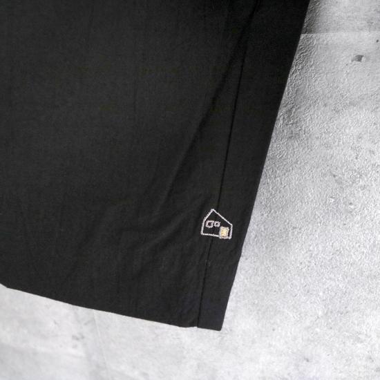 HUIS|綿ウールタイプライタークロスプルオーバ BLACK