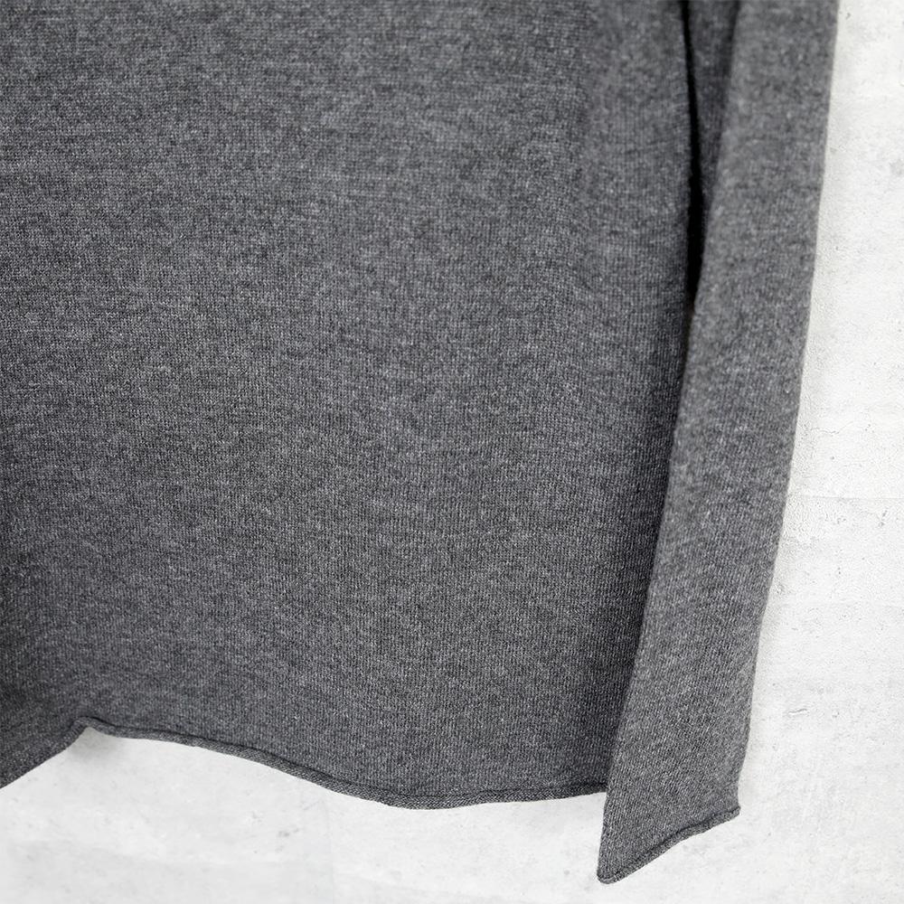 1dozen|カシミヤシルク フーディ Top charcoal