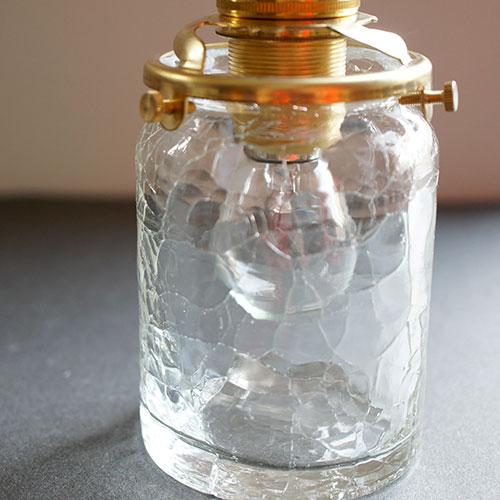安土草多|ペンダントライト [E17] 筒瓶 クラック
