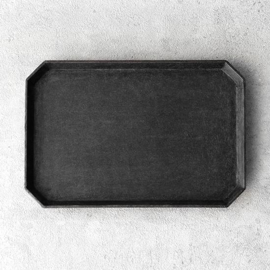 蝶野秀紀|和紙貼すみきり茶盆S 黒