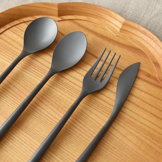 ZIKICO SUMU Dinner Spoon Black