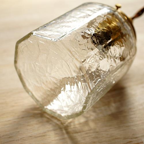安土草多 ペンダントライト [E17] 十角筒瓶 クラック