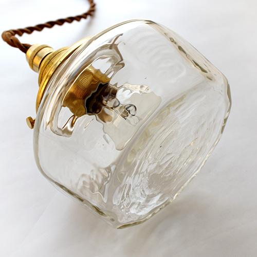 安土草多|ペンダントライト [E17] 十二角平瓶