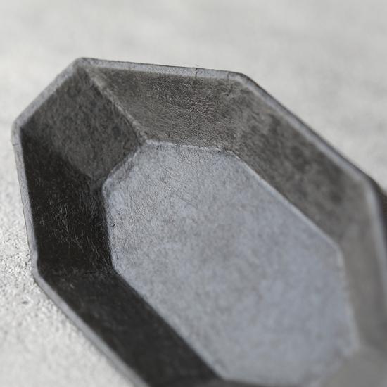 蝶野秀紀|和紙貼八角皿 S 黒