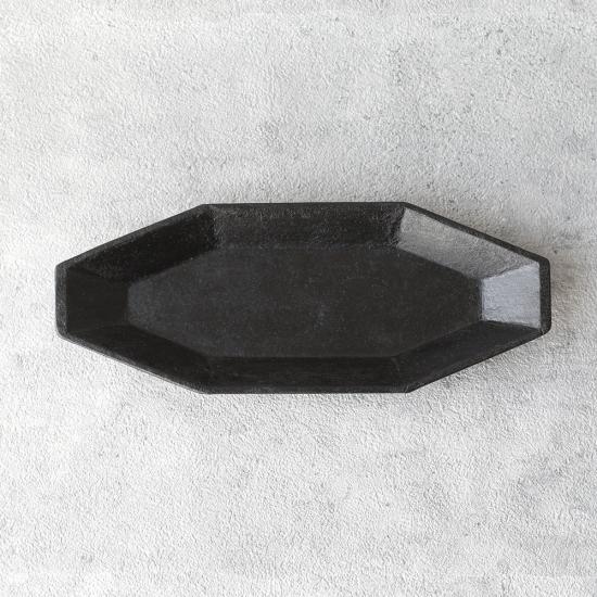 蝶野秀紀|和紙貼八角皿 M 黒