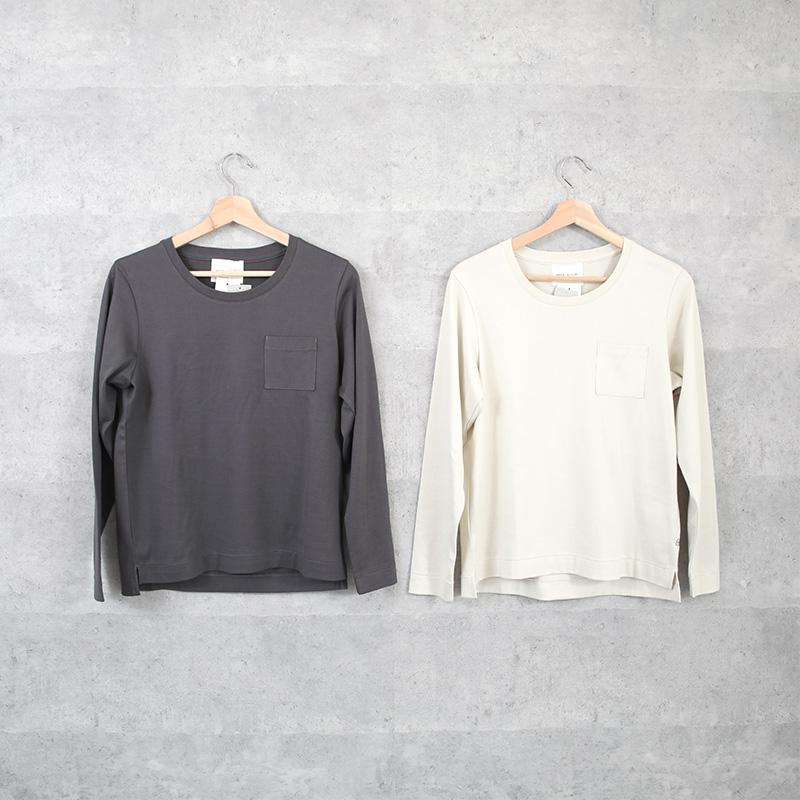 HUIS×yohaku|ギザコットンカットソー charcoal【ユニセックス】