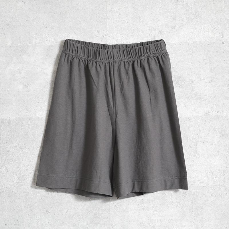 HUIS×yohaku ペチパンツ兼ハーフパンツ charcoal gray【ユニセックス】