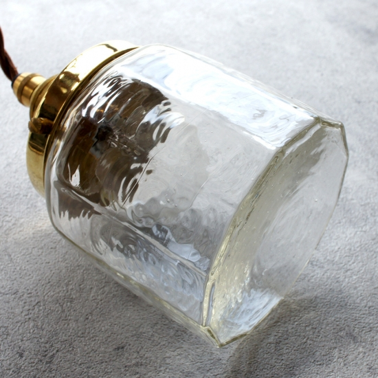 安土草多|ペンダントライト [E17] 十二角筒瓶 大