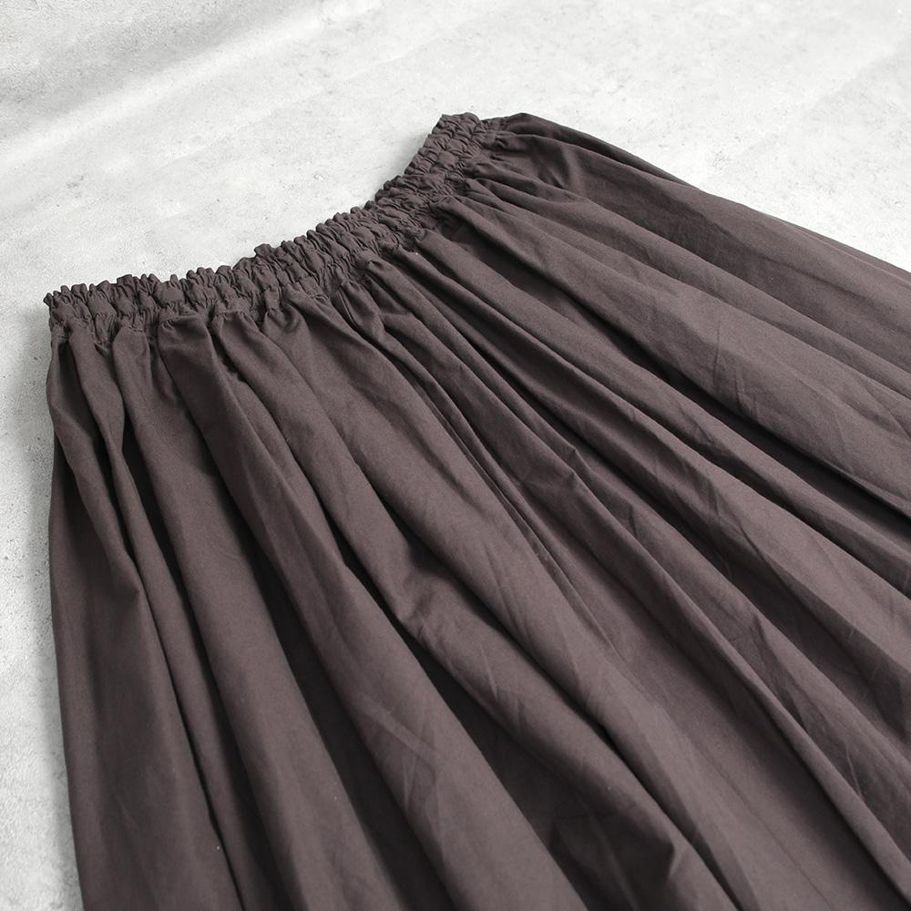 HUIS|ダウンプルーフコットンロングスカート DARK GRAY