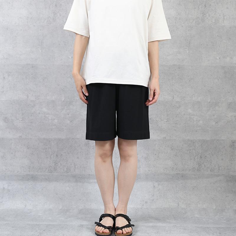 HUIS×yohaku|ペチパンツ兼ハーフパンツ black【ユニセックス】