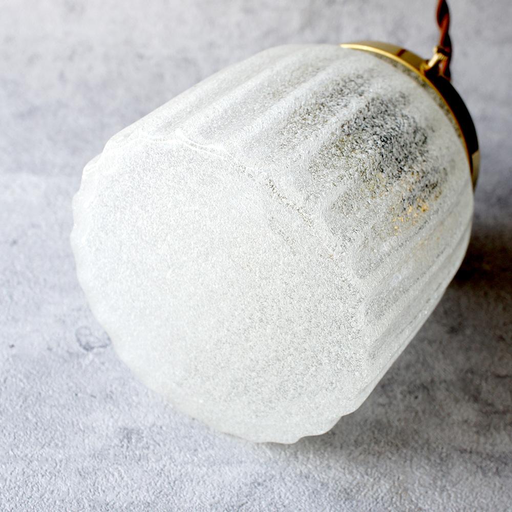 安土草多|ペンダントライト [E26] 鳴門筒瓶 泡 真鍮金具