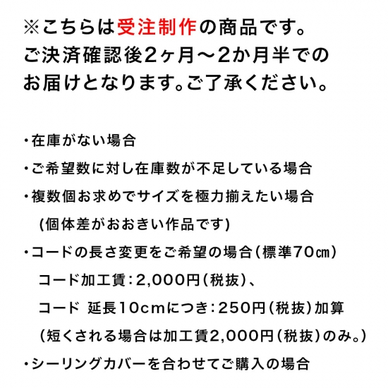 【予約注文】安土草多 ペンダントライト [E17] 球 墨透き被せ