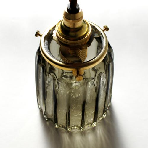 安土草多 ペンダントライト [E17] 鳴門筒瓶 墨透き被せ