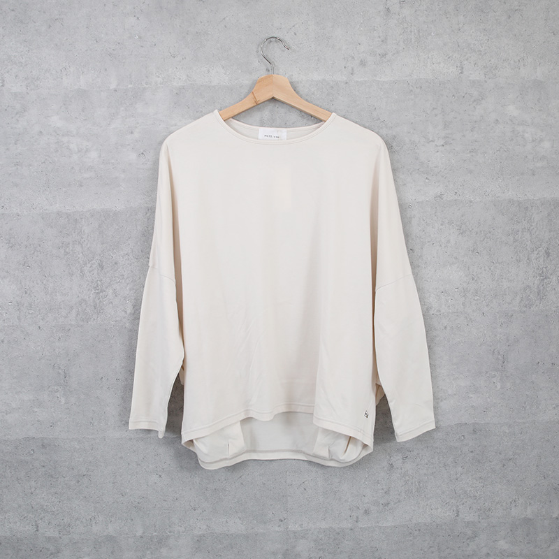 HUIS in house SUVIN COTTON 長袖コクーンカットソー ivory