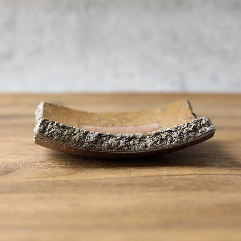 平岡仁 焼〆角豆皿