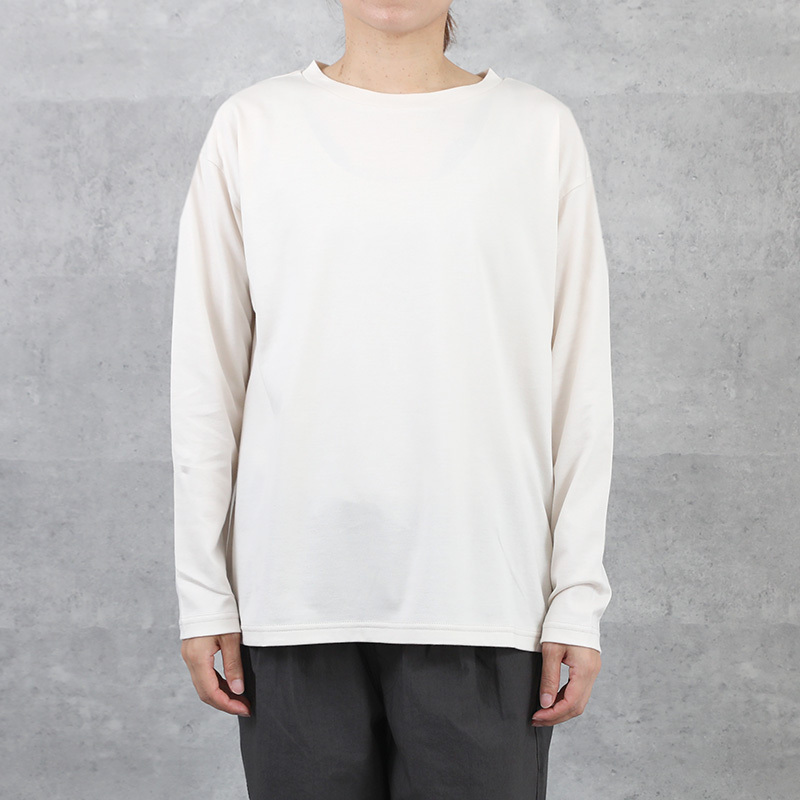 HUIS in house SUVIN COTTON 長袖カットソー ivory【ユニセックス】