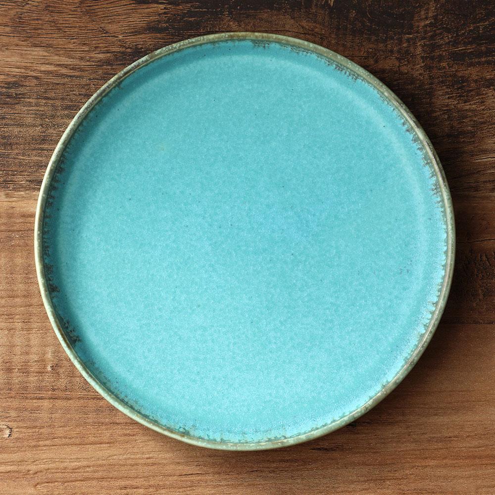 宮本めぐみ|トルコ釉shallow plate 5.5in