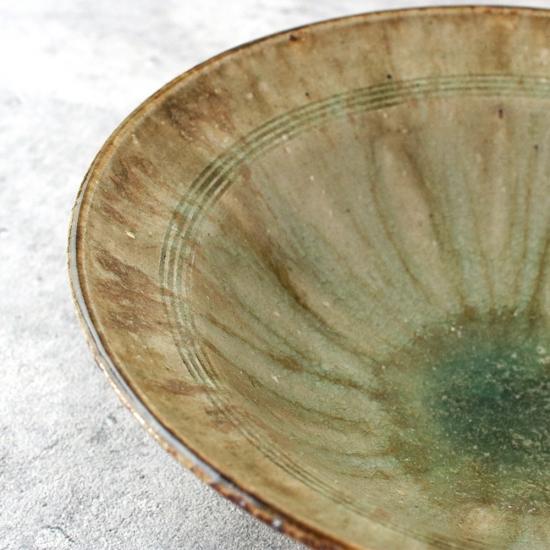 酒井敦志之 灰釉 リム鉢