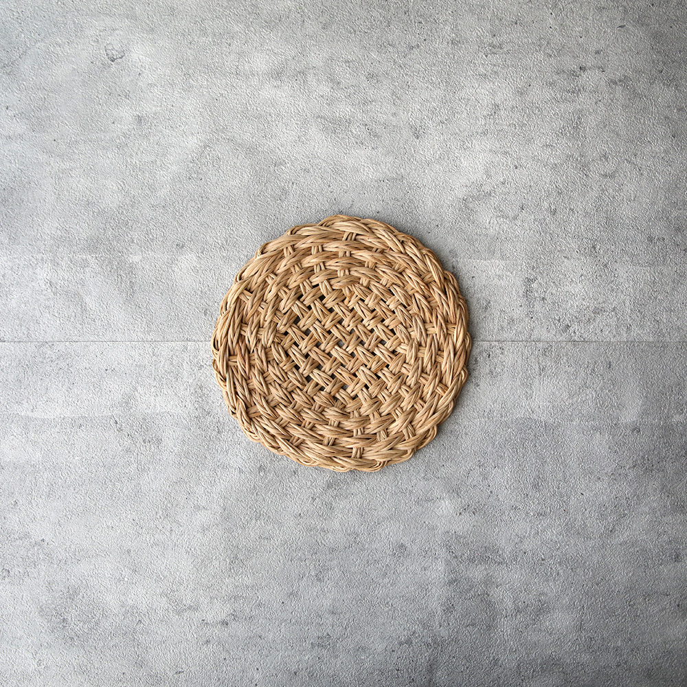 籐のなべ敷き