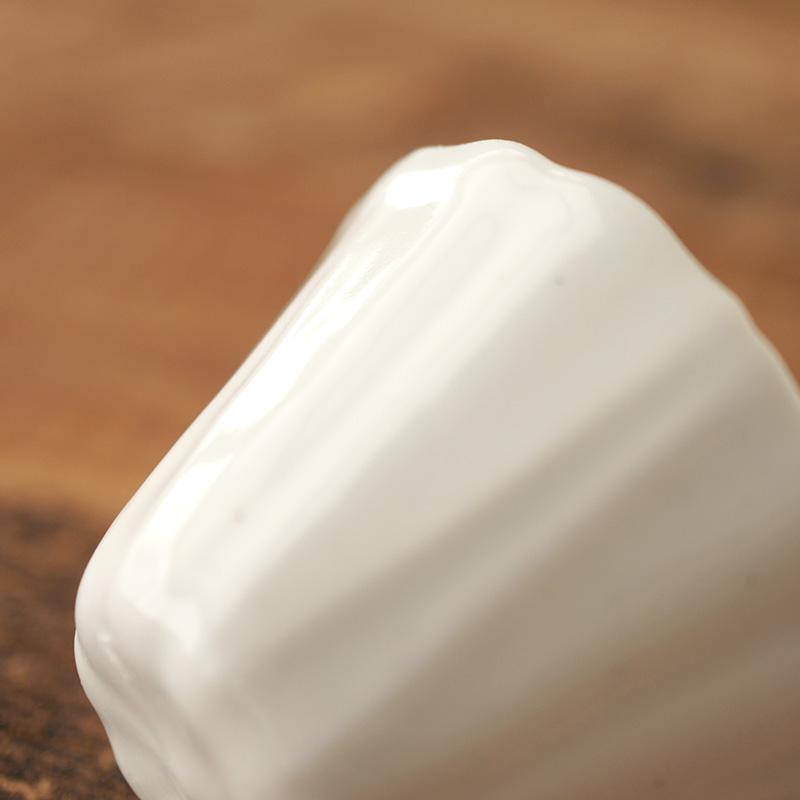 村上雄一|白磁朝顔茶杯