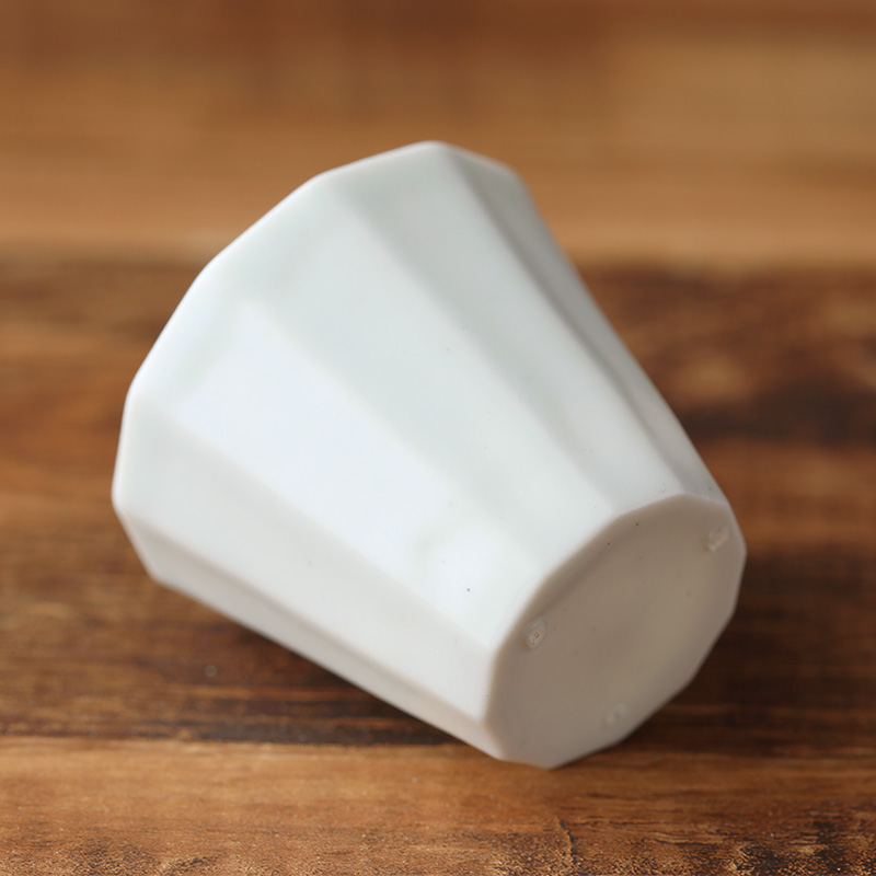 村上雄一|白磁12角茶杯