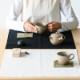 十布|大判ハンカチ 福島の刺子織 ホワイト