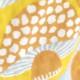 十布|正方形のダブルガーゼ L おおきな羽根 黄