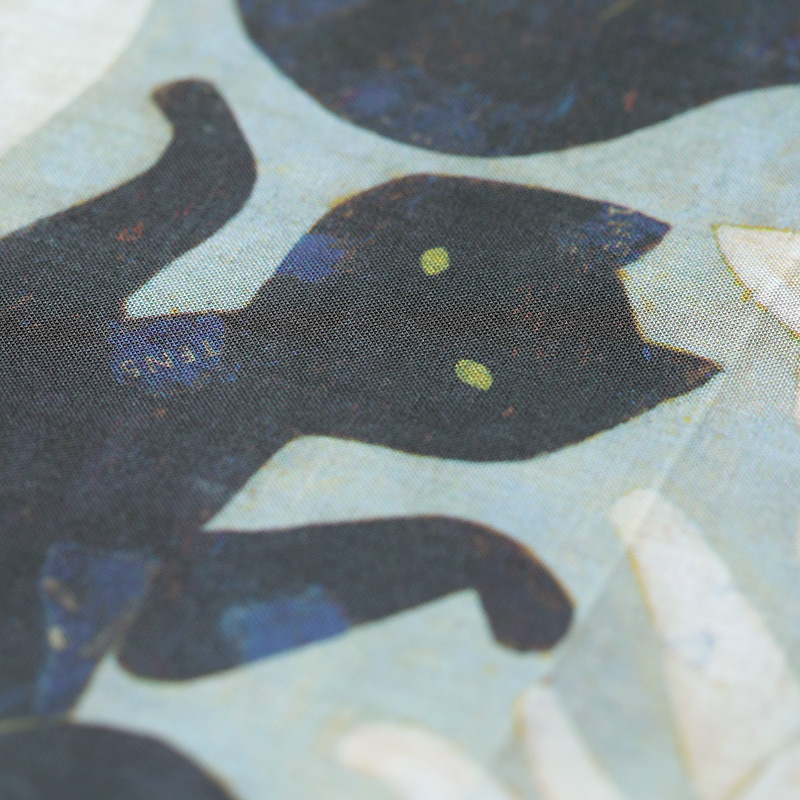 十布|ハンカチ 黒猫・白猫