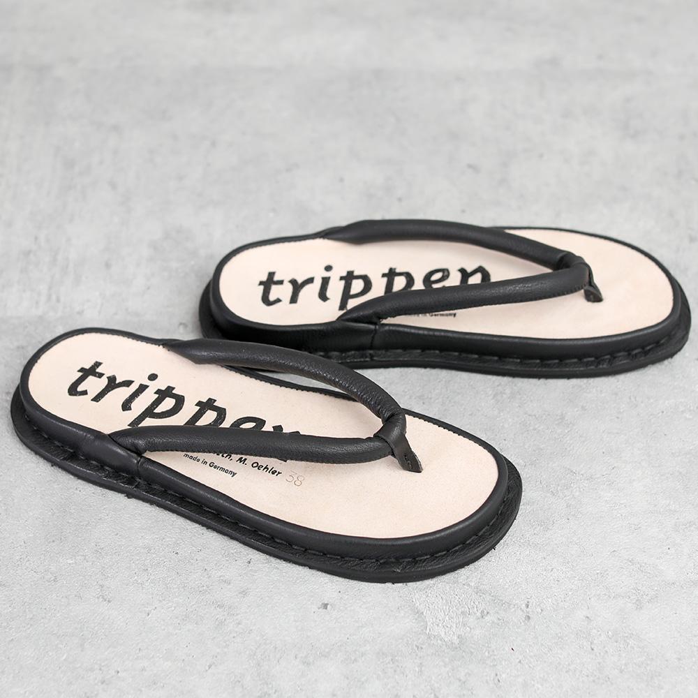 trippen|Zori black