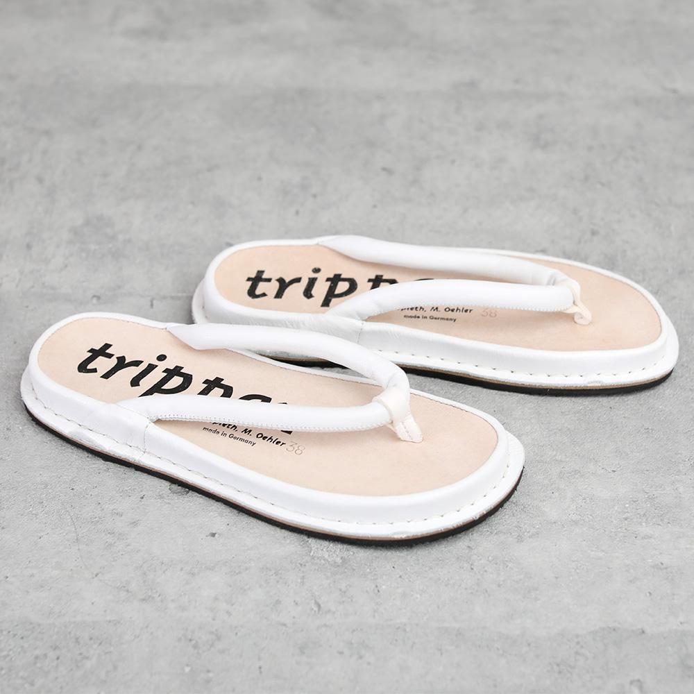 trippen Zori white