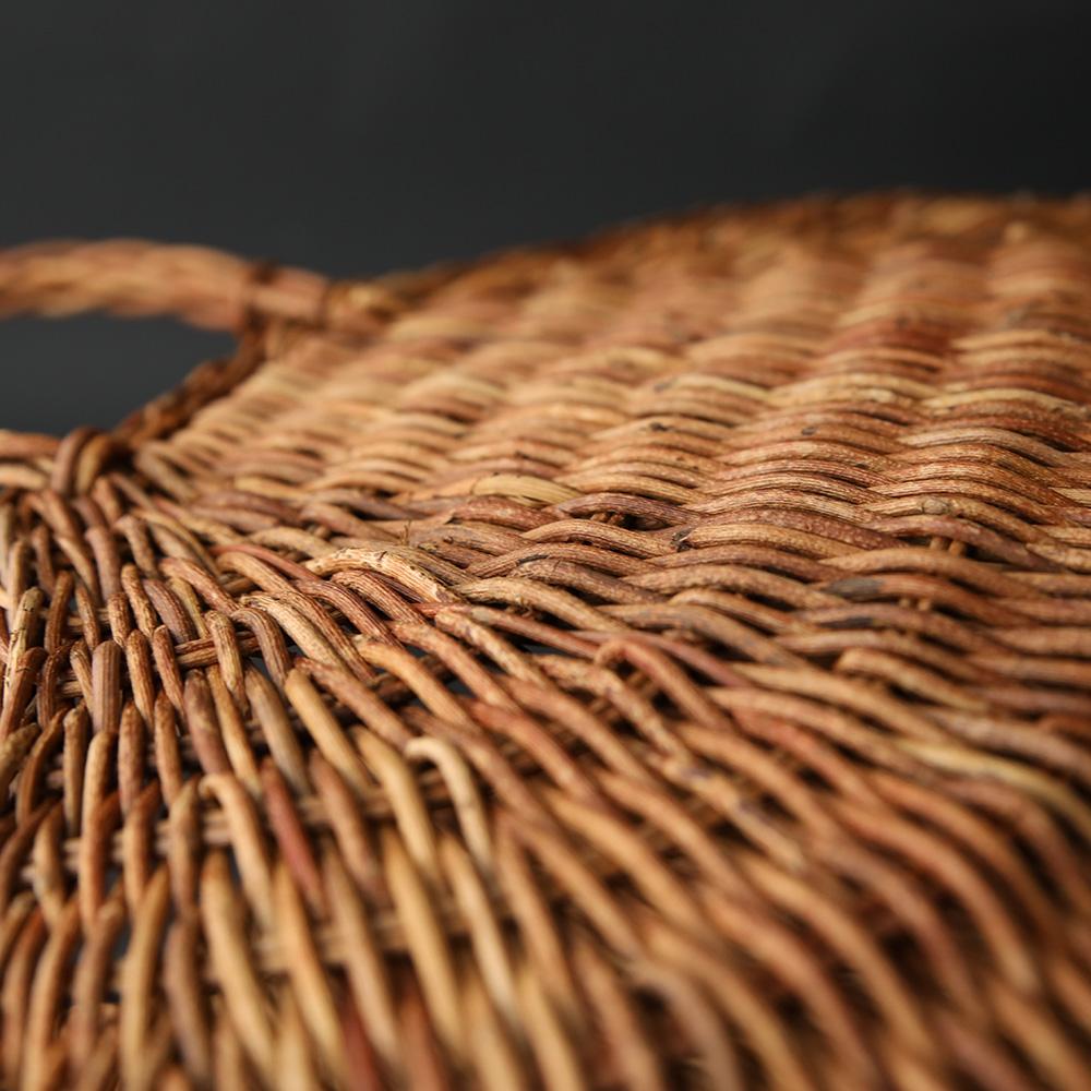 あけび織編手提かご 小