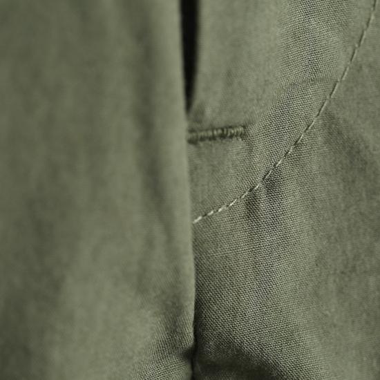 HUIS|やわらかコットン8分丈パンツ  KHAKI【ユニセックス】