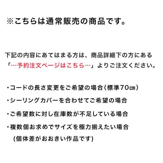 安土草多 ペンダントライト [E26] 傘