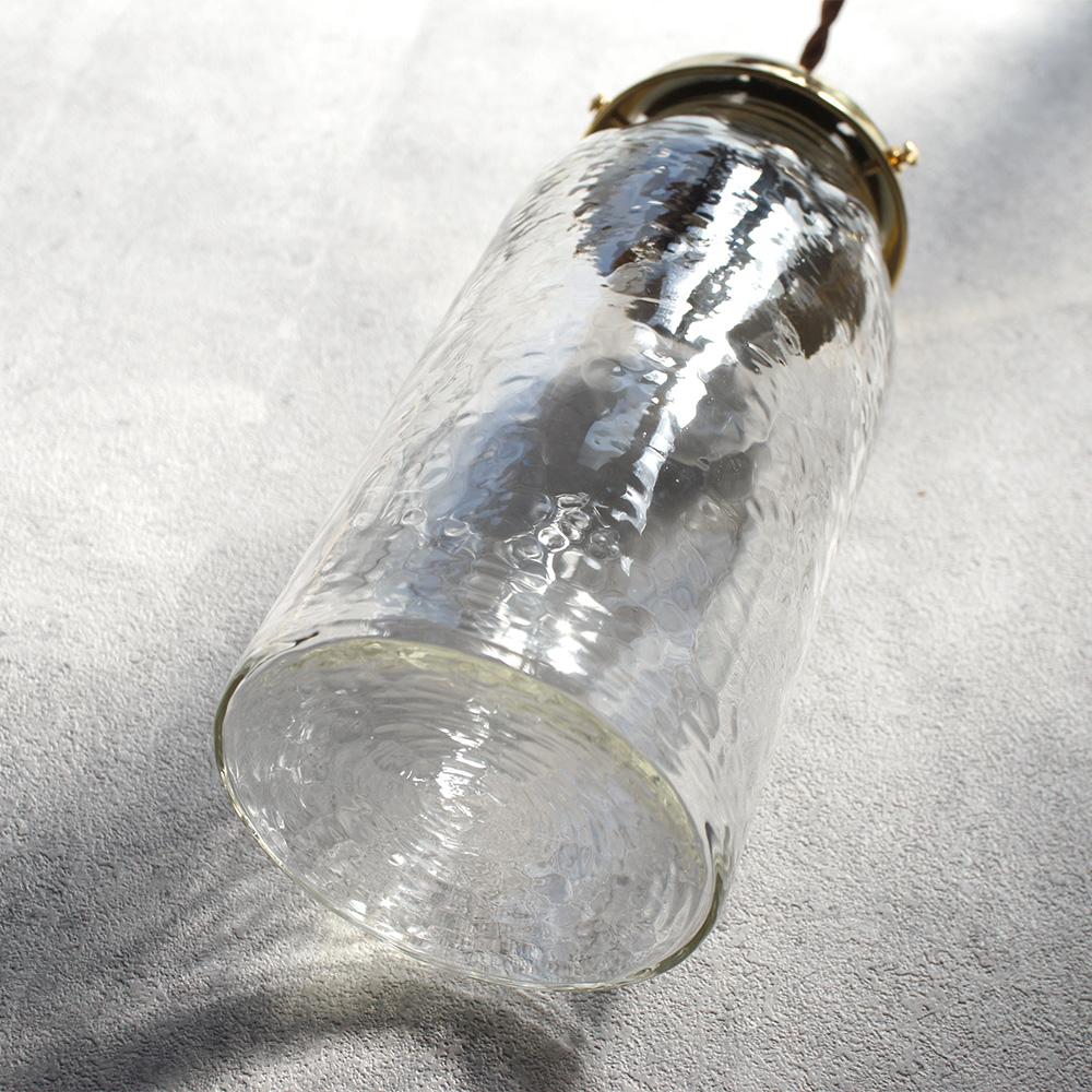 安土草多|ペンダントライト [E26] 太筒瓶ロング 真鍮金具