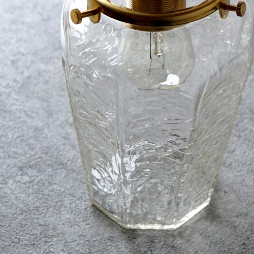 【予約注文】安土草多|ペンダントライト [E17] 八角瓶 大 クラック