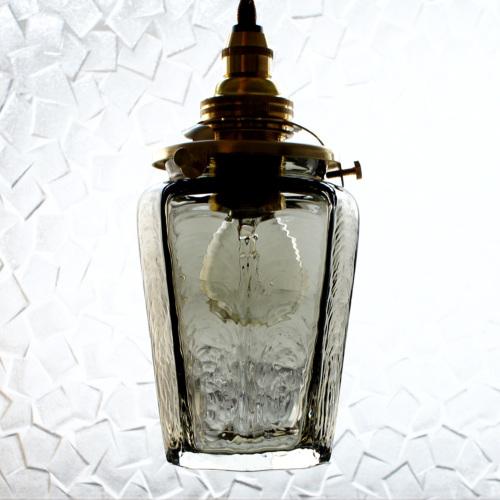 【予約注文】安土草多 ペンダントライト [E17] 八角瓶 墨透き被せ