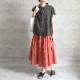 HUIS|ゆるふわコットンスカート スカーレット
