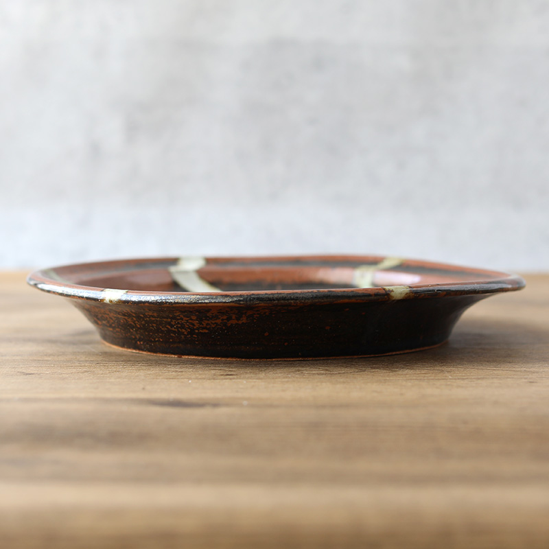 鈴木稔 リム皿A 27cm