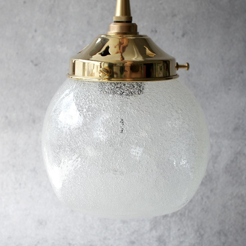 安土草多|ペンダントライト [E26] 角球 泡 真鍮金具