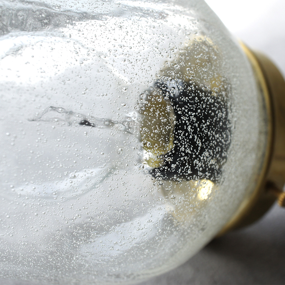 安土草多|ペンダントライト [E26] つりがね 泡 真鍮金具