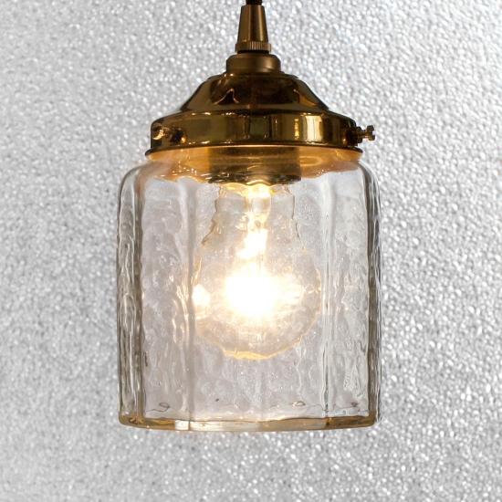 安土草多 ペンダントライト [E26] 十二角筒瓶 真鍮金具