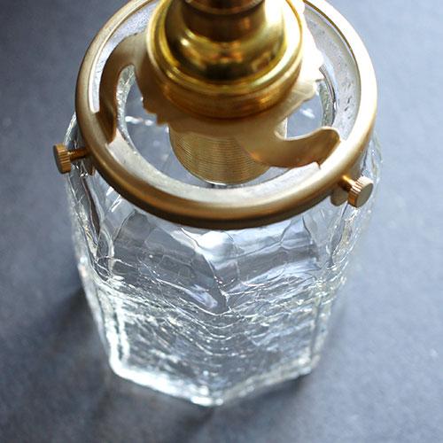 安土草多|ペンダントライト [E17] 八角筒瓶 クラック