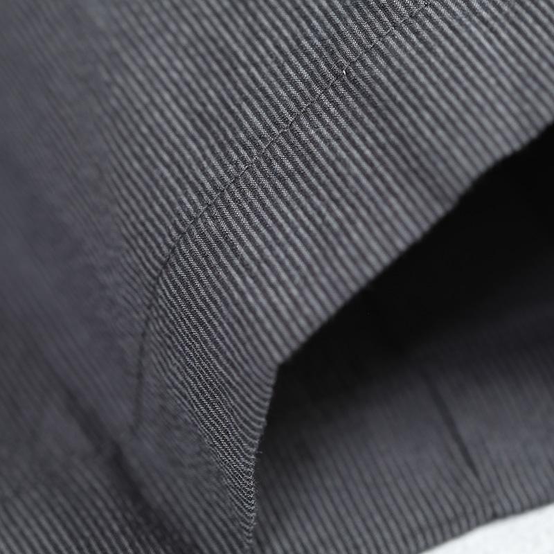 HUIS|コードレーンワイドパンツ 黒グレー【ユニセックス】