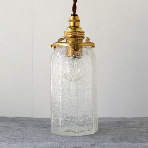 安土草多|ペンダントライト [E17] 八角筒瓶 ロング 泡