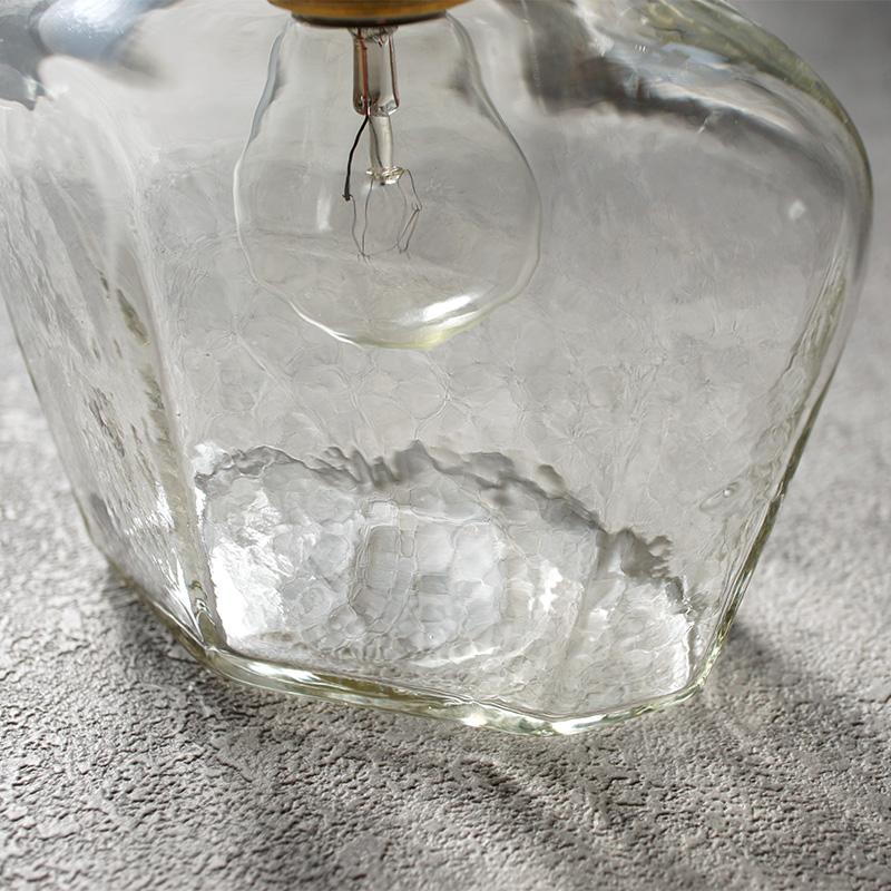 安土草多|ペンダントライト [E17] 面取り瓶