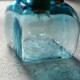 安土草多|ペンダントライト [E17] 角瓶 青透き被せ