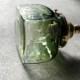 安土草多|ペンダントライト [E17] 角瓶 緑透き被せ